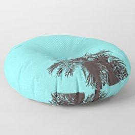 me love palm tree Floor Pillow