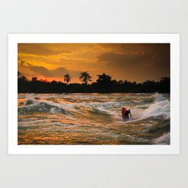 Last Ride at Nile Special Art Print