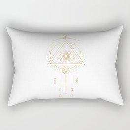 Mandala Golden Eye Geometric Tribal Rectangular Pillow