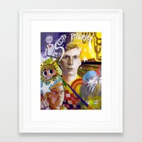 scott pilgrim Framed Art Prints featuring SCOTT PILGRIM VS. MICHAEL CERA by spatsula