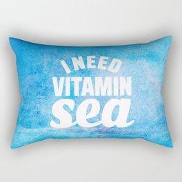 I Need Vitamin Sea Blue Rectangular Pillow