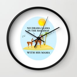 No Drama Llama With His Mama Wall Clock