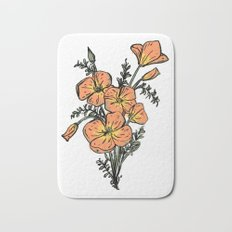 CALIFORNIA POPPIES Bath Mat