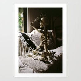 Skeleton Babe 6 Art Print
