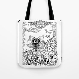 Garden Series Adult Coloring Tote Bag