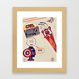 Civil Wauugh! Framed Art Print