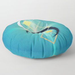 Floating Geometry :: Crescent Moons Floor Pillow