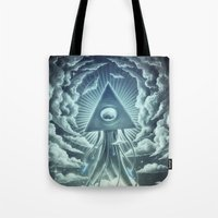 war Tote Bags featuring War Of The Worlds I. by Dr. Lukas Brezak