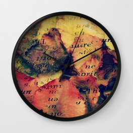 Waterlily Leaves - JUSTART © Wall Clock