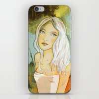 blondie iPhone & iPod Skins featuring blondie  by Agnes Laczo