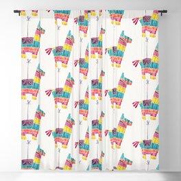 Mexican Donkey Piñata – CMYK Palette Blackout Curtain