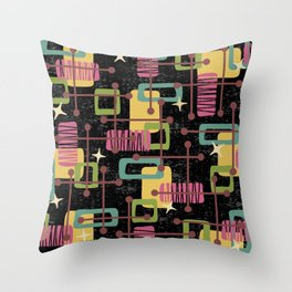 Mid Century Modern Abstract Pattern 836 Throw Pillow