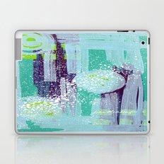 Teal Background Laptop & iPad Skin