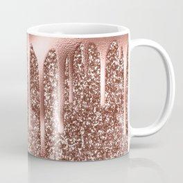 Rose Gold Drip & Sparkle Coffee Mug