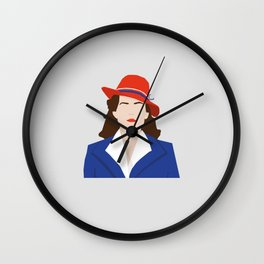 Agent Carter Vector Wall Clock