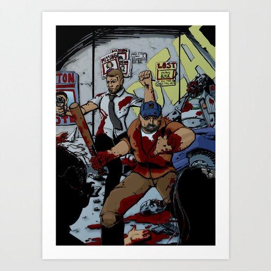 Zombie Rush  Art Print