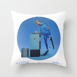 CALENDAR: AQUARIUS - by Pascal Throw Pillow