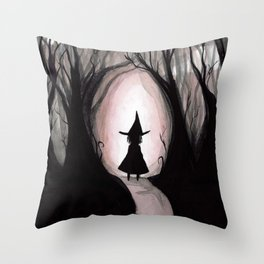 Witchy Walk Throw Pillow