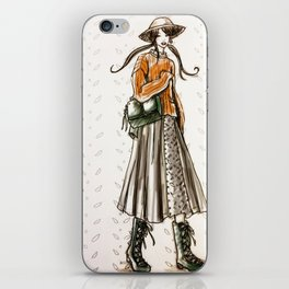 Cozy country walk iPhone Skin