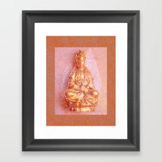 Rose-Bronze Kwan Yin Framed Art Print