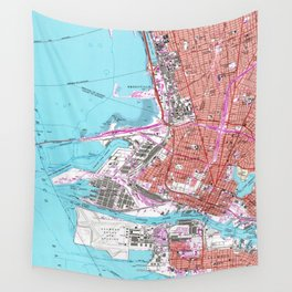 Vintage Map of Oakland California (1959) Wall Tapestry