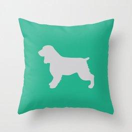 Cocker Spaniel (Mint/Grey) Throw Pillow