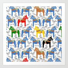Dala Horse pattern Art Print