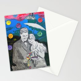 Colorful rain Stationery Cards