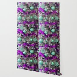 Christmas tree violet with mint Wallpaper