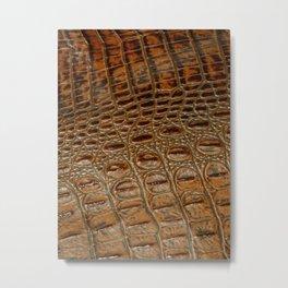 It's A Croc! - Faux (2D) Crocodile Hide Metal Print