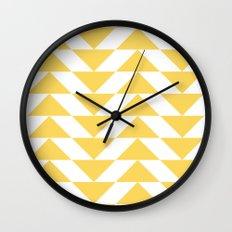 Yellow Triangle Wall Clock