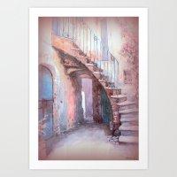 italian Art Prints featuring Italian Village by elkart51
