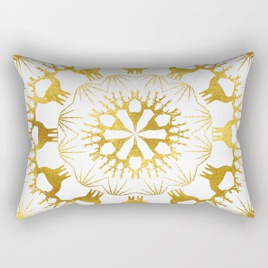 Gold Christmas 05 Rectangular Pillow
