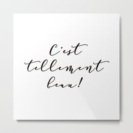 It's so beautiful French Quote Black and White Home Decor Metal Print