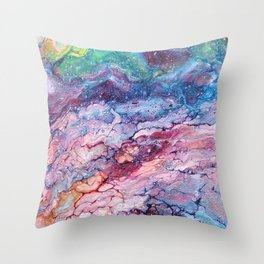 Rainbow Dream Groovy Flow #22 Throw Pillow