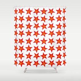 USSR red star pattern Shower Curtain