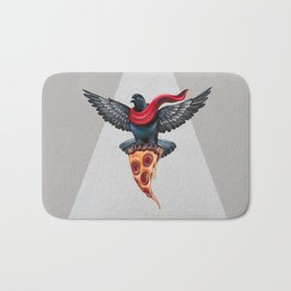 Pigeon with Pizza Bath Mat