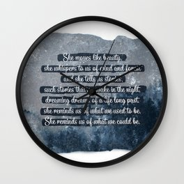 She Moves Like Beauty Wall Clock