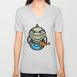 Spike the Shark Unisex V-Neck