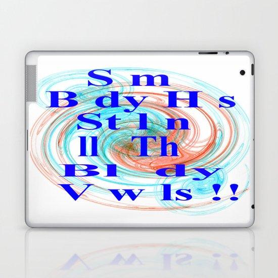 Stolen Vowels Laptop & iPad Skin