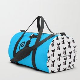 Black Cat - Cool Blue Duffle Bag
