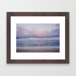 Pastel Beach - Kauai, Hawaii Framed Art Print