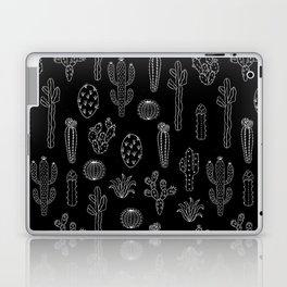 Cactus Silhouette White And Black Laptop & iPad Skin