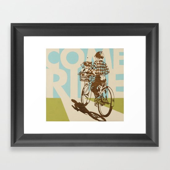 Come Ride Framed Art Print