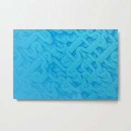 Retro abstract wavy art Metal Print