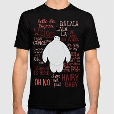 Hello, I'm Baymax Mens Fitted Tee Black X-LARGE