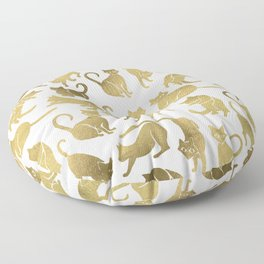 Cat Positions – Gold Palette Floor Pillow
