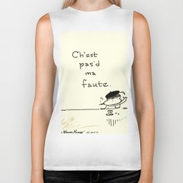 """It Ain't My Fault"" Improper French Ape Biker Tank"