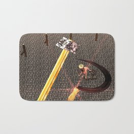Squared: Hammer And Sickle Bath Mat