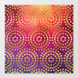 Summer Heat Geometric Pattern Canvas Print